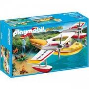 Комплект Плеймобил 5560 Противопожарен самолет с водни ски, Playmobil, 291142
