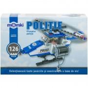 Jucarie de constructie MomKi Elicopter politie 126 piese
