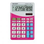 Calcolatrice da tavolo Sharp EL-M332B - 164245 Calcolatrice da scrivania 14,9 X 10 X 2,7 cm con display da 10 cifre di colore rosa in confezione da 1 Pz.