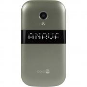doro 6050 Senior preklopni telefon Stanica za punjenje, SOS ključ Šampanjac boja, Bijela