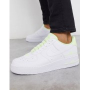 Nike Air Force 1 '07 LV8 3SU20 trainers in white/volt