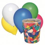 Baloane, diverse culori, 100 buc/galetusa, HERLITZ