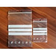 160 x 220 x 0,05 mm-es (16 x 22 cm-es, A5) írható felületű simítózáras tasak