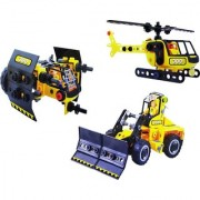 Emob 201 Pcs Rescue Theme 3D Bricks Interlocking Blocks Set Toy for Kids (Multicolor)