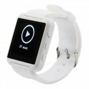 """MTK2621 1?5"""" Bluetooth Smart Watch / Wristband con podometro - Blanco"""