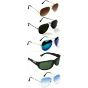 SO SHADES OF STYLE Aviator, Rectangular Sunglasses(Black, Brown, Blue, Green)