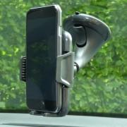 Shop4 - Universele Telefoonhouder Auto Instelbare Raamhouder ook voor grote telefoons