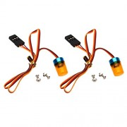 MagiDeal Low Power Consumption Fully Functional RC Car Truck LED Lights Yellow PACK OF 2PCS