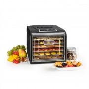 Klarstein Fruit Jerky Plus 6 gyümölcsszárító gép, időzítő, 6 polc, fémlemez, 420-500 W, fekete (GQ7-FruitJerky Plus6)