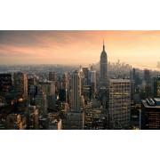 Werk aan de Muur Schilderij New York Panorama - Aluminium Dibond - 55x35