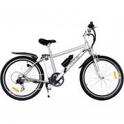 Bicicleta Electrica EcoMobile 350W Power Plus Deportiva Plata