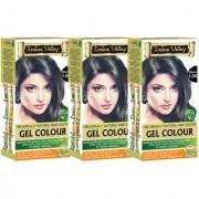 Indus valley Organically Natural Gel Black 1.00 (Triple Pack) Hair Color