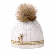 Kama Fashion&Function Kama&Deers Sarntal muts wit met gouddraad AD76