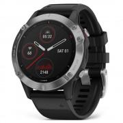 Smartwatch Garmin Fenix 6 Pro Slate Gray cu Black Band (47mm, wi-fi, glass)