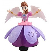 AKSHATA Princess Dancing Doll And Rotating Angel Girl Flashing Lights with Music Toy For Kids