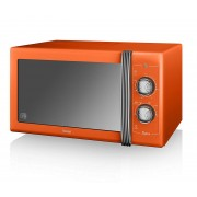 Swan Products SM22070ON Retro Manual Microwave - Orange