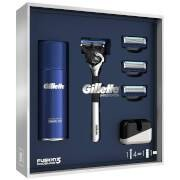 Gillette Fusion5 ProGlide Razor with Shaving Gel, 3 Extra Blades and Stand
