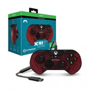 Hyperkin X91 Ice Wired Controller for Xbox One/ Windows 10 PC (RUBY Red) Officially Licensed By Xbox Xbox One