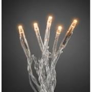 Konstsmide Micro LED lichtsnoer transparant met 50 extra warm witte lampen