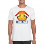 Bellatio Decorations Wit Holland supporter kampioen shirt heren