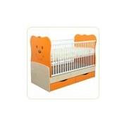 Patut transformabil Teddy Natur-Orange cu leg 4837