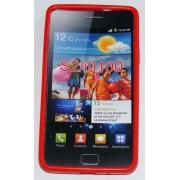 Силиконов гръб ТПУ за Samsung I9100 Galaxy S II Червен