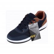 Hombres Y Ligero De Malla Transpirable Lace Up Zapatos Deportivos Con Suela Antideslizante Blue