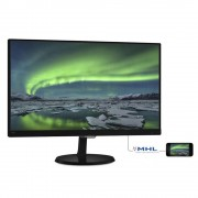 "Monitor 23"" PHILIPS 237E7QDSB, FHD 1920*1080, IPS, WLED, 16:9, 5 ms, 250 cd/m2, 20M:1/ 1000:1, 178/178, Flicker free, MHL, VGA, DVI, HDMI, Kensington"