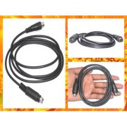 S Video 4 Pin Male to RF Pin Male Cable Length 1.5M