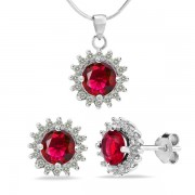 Silvego Dárkový set ze stříbra se zirkony - FIJS008-R