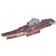 3D Modelo de barco hecho a mano en miniatura de juguete - Portaaviones chino El Liaoning