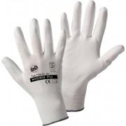 Manusi de protectie nailon cu poliuretan, marimea 8, CAT II, alb, Worky 1150
