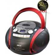 Micro Sistem Audio Akai APRC-90, 5 W, CD/MP3 Player, Radio FM, USB (Negru/Rosu)