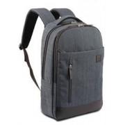 """Macaroni Mantica 15.6"""" Linen Backpack-Grey-Unisex"""
