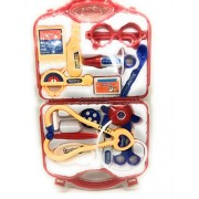 FunBlast™ Doctor Kit Toys for kids, Doctor Kit Pretend Play Doctor Playset Medical Carrycase Nurses Toy Set Fun Toy Gift Early Education For Kids (Red)