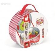 JANOD Zestaw piknikowy w walizeczce z 21 akcesoriami, - zabawka piknik dla dzieci