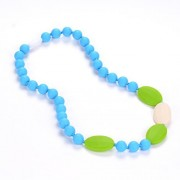 Consider It Maid Baby/Toddler Silicone Teething Necklace - BPA Free and FDA Approved - Better Alternative to Baltic Amber for Moms - Teether Toy Option for your Baby - Soothing Help for your Teething Baby - Organic Natural Teether - Be Different Collectio