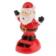 Segolike Plastic Solar Powered Dancing Flip Flap Car Home Desk Dancer Bobble Toy Ornament Santa Claus