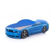 Детско легло тип кола Мустанг Plus в син цвят