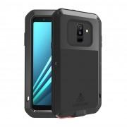 LOVE MEI Dust-proof Shock-proof Splash-proof Defender Phone Casing for Samsung Galaxy A6+ (2018) / A9 Star Lite - Black