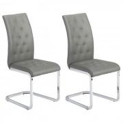 IDIMEX Lot de 2 chaises CHLOE, en synthétique gris