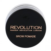 Makeup Revolution London Brow Pomade With Double Ended Brush 2,5G Chocolate Per Donna (Cosmetic)
