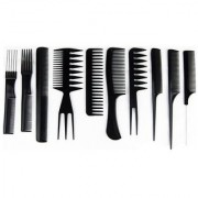 Liqon Pack of 10 Pcs Professional Different Hair Comb Set Good For Barber Salon Hair Styling Hairdressing