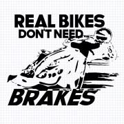 Real Bikes Don't Need Brakes Skuren vinyl