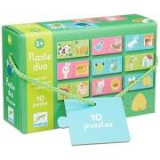 Djeco Duo Puzzle Habitat 10 Puzzles/20pc