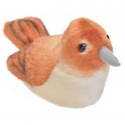 Wild Republic Nachtegaal vogeltje met geluid van pluche 13 cm