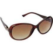 Hrinkar Over-sized Sunglasses(Brown)