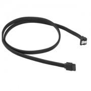 Cablu Sharkoon SATA3, conector in unghi drept, 100cm, Black