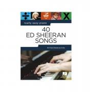 Music Sales Really Easy Piano - 40 Ed Sheeran Songs Libro de
