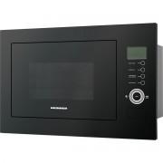 Cuptor cu microunde incorporabil Heinner HMW-25BIGBK, 25 L, 900 W, Grill, Control touch, Display LCD, Sticla Neagra